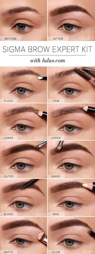 آموزش آرایش ابرو